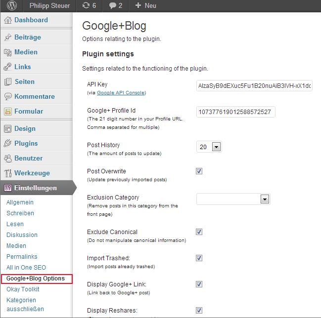 Crossposting: Google+ Beiträge automatisch auf Blog veröffentlichen